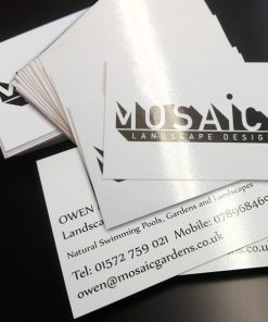 business cards gloss