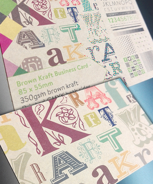business cards brown kraft