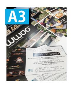 A3 Flyers printed single double sided printing