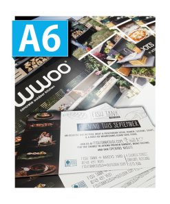 A6 Flyers printed single double sided printing