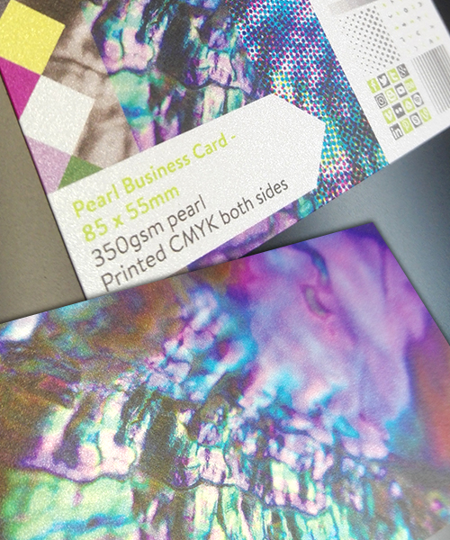 Business Cards Pearl Glitter