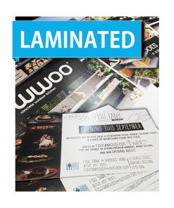 Laminated Flyers printed single double sided printing