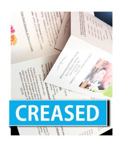 creased leaflets leaflet printing