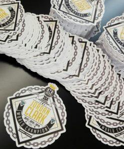 individual stickers perf cut single vinyl